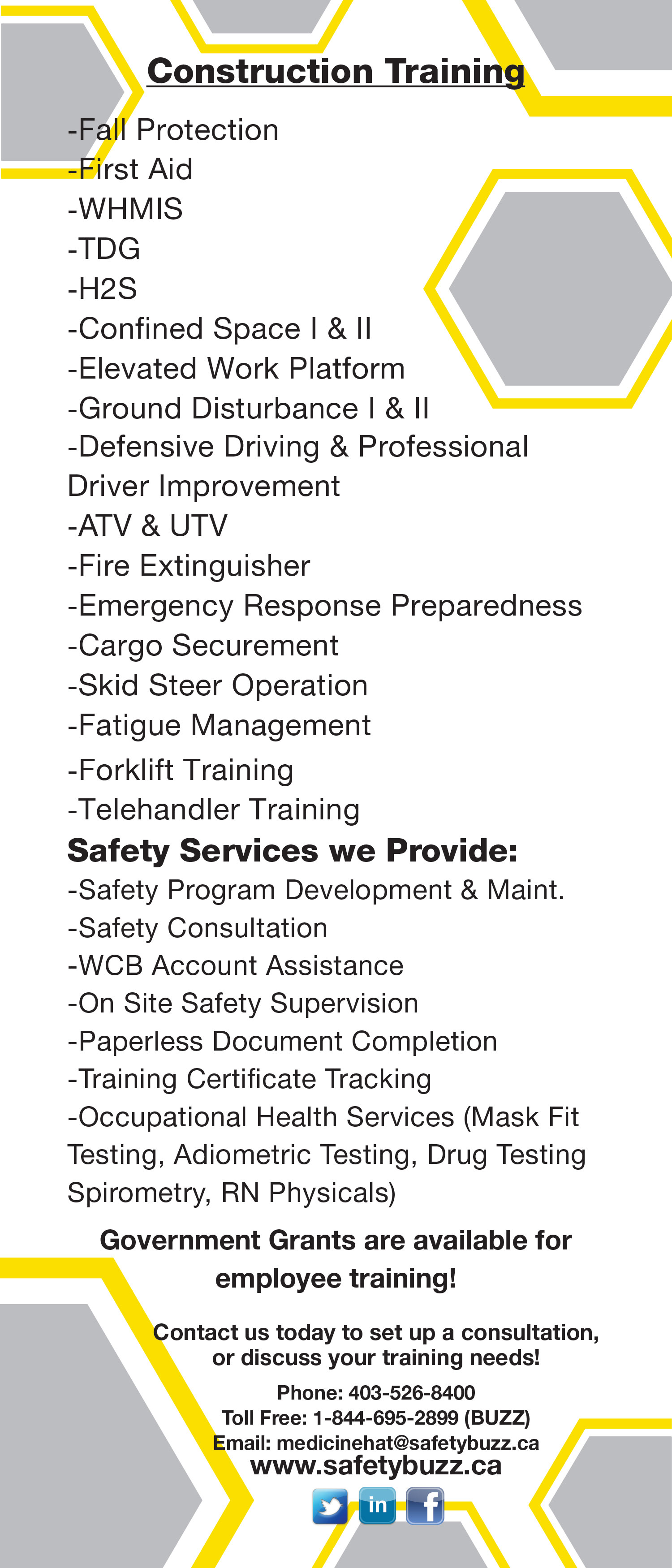 Construction safety buzz safety training in medicine hat and construction 1betcityfo Gallery